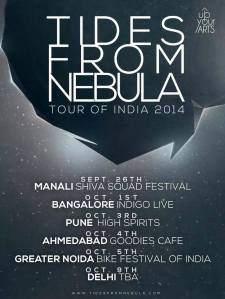 Tides From Nebula India Tour Poster