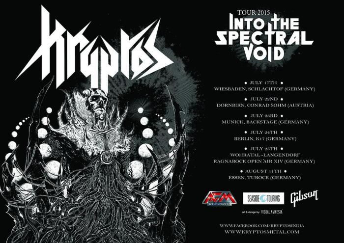 Kryptos Europe tour poster 2015
